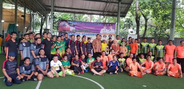 Antusias Pegawai Ikuti Pertandingan Futsal Antar Bidang Disperkimtan Kota Bekasi