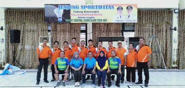 Pembukaan Pertandingan Bulutangkis Antar Bidang Disperkimtan Dalam Rangka Menyambut HUT Kota Bekasi