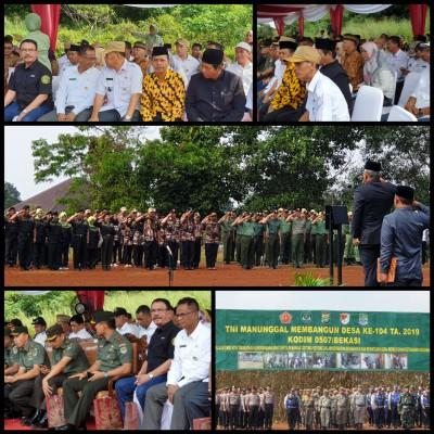 Pembukaan Kegiatan TMMD Ke 104, Di Kelurahan Jatisari Kecamatan Jatiasih Kota Bekasi