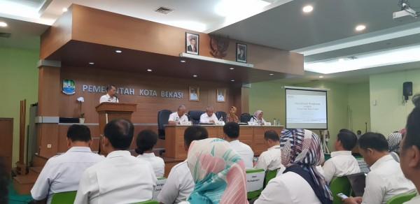 Acara Sosialisasi Pengisisian E-LHKPN Dari KPK Di Aula Nonon Sontoni Kota Bekasi
