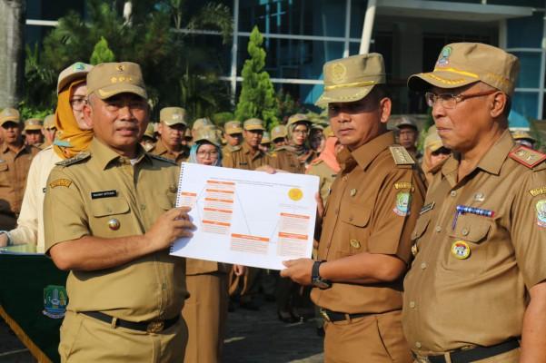 Apel Dirangkaikan Penyerahan Renstra Tiap Opd Sekaligus Halal Bihalal ...