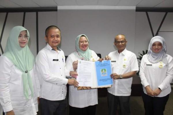 Sertijab Antar Kepala Dinas Perkimtan Kota Bekasi Dr. Dadang Samsupraja, MAP Dengan Kepala Dinas Jum