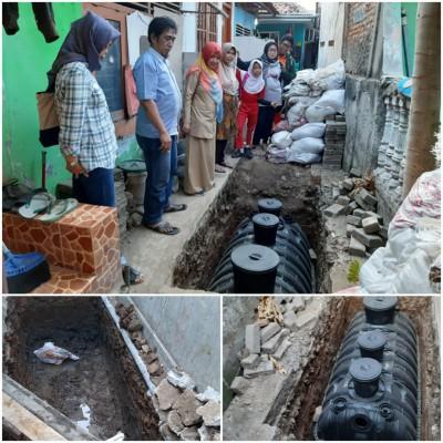 Disperkimtan Kota Bekasi Lakukan Pemasangan Tangki Ipal Komunal
