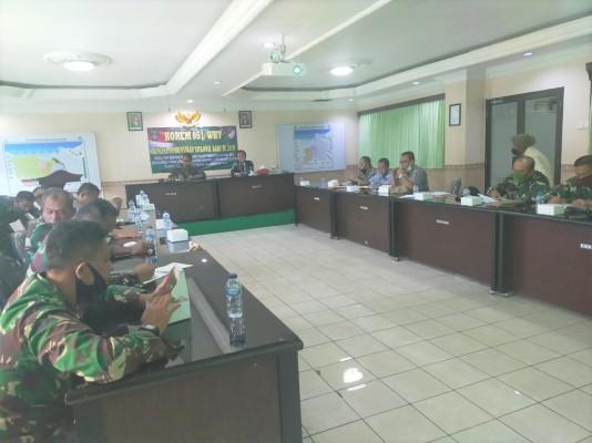 Rapat Koordinasi Persiapan Pembangunan Koramil Jatisampurna Di Korem Jayakarta